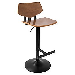 LumiSource Apex Bar Stool in Black/Walnut