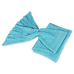 Knit Mermaid Tail Throw
