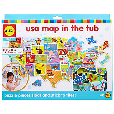 ALEX® Toys Bath USA Map in the Tub