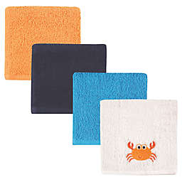 Luvable Friends® 4-Pack Crab Washcloths in Orange
