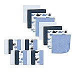 Luvable Friends® 24-Pack Whale Washcloths in Blue