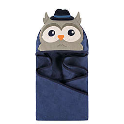 Hudson Baby® Mr. Owl Hooded Towel in Dark Blue