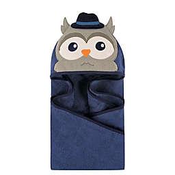 Hudson Baby® Mr. Owl Hooded Towel in Dark Blue