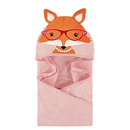 Hudson Baby® Foxy Hooded Towel in Pink