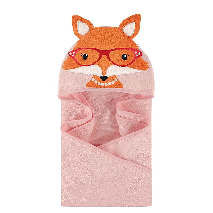 Alternate image 1 for Hudson Baby® Foxy Hooded Towel in Pink