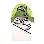 Hudson Baby® Scuba Turtle Hooded Towel in Green