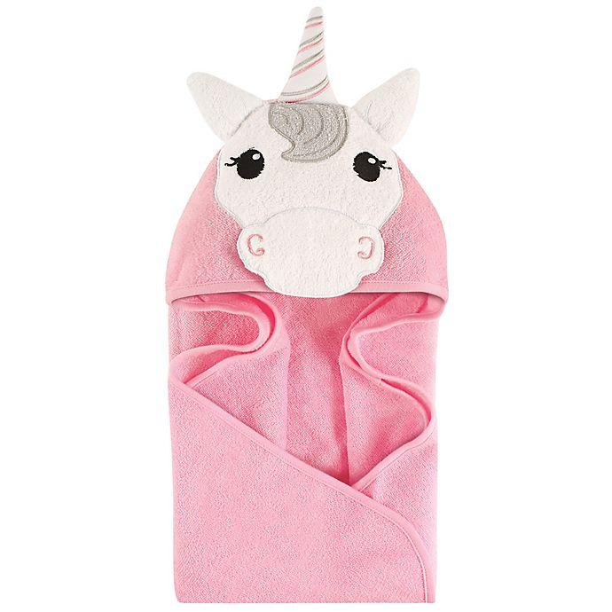 Alternate image 1 for Hudson Baby® Unicorn Hooded Towel in Pink/White