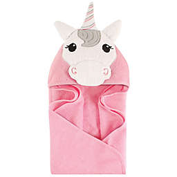 Hudson Baby® Unicorn Hooded Towel in Pink/White