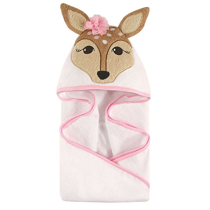 Alternate image 1 for Hudson Baby® Fawn Hooded Towel in Pink
