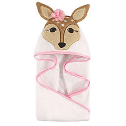 Hudson Baby® Fawn Hooded Towel in Pink