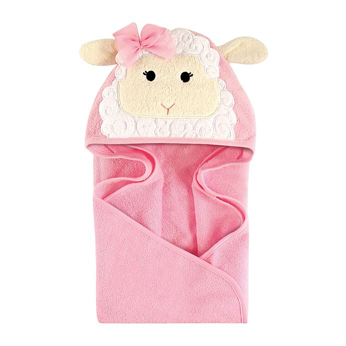 Alternate image 1 for Hudson Baby® Lamb Hooded Towel in White/Cream