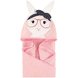 Little Treasures Hip Bunny Hooded Towel in Pink/Navy