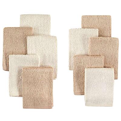 Little Treasures 10-Pack Luxurious Washcloths in Cream/Tan
