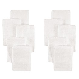 Little Treasures 10-Pack Luxurious Washcloths in White