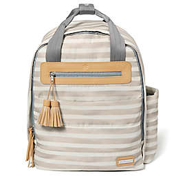 SKIP*HOP® Riverside Ultra Light Backpack Diaper Bag in Oyster Stripe