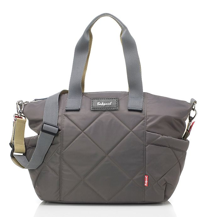 Alternate image 1 for BabyMel™ Evie Quilted Tote Diaper Bag in Slate