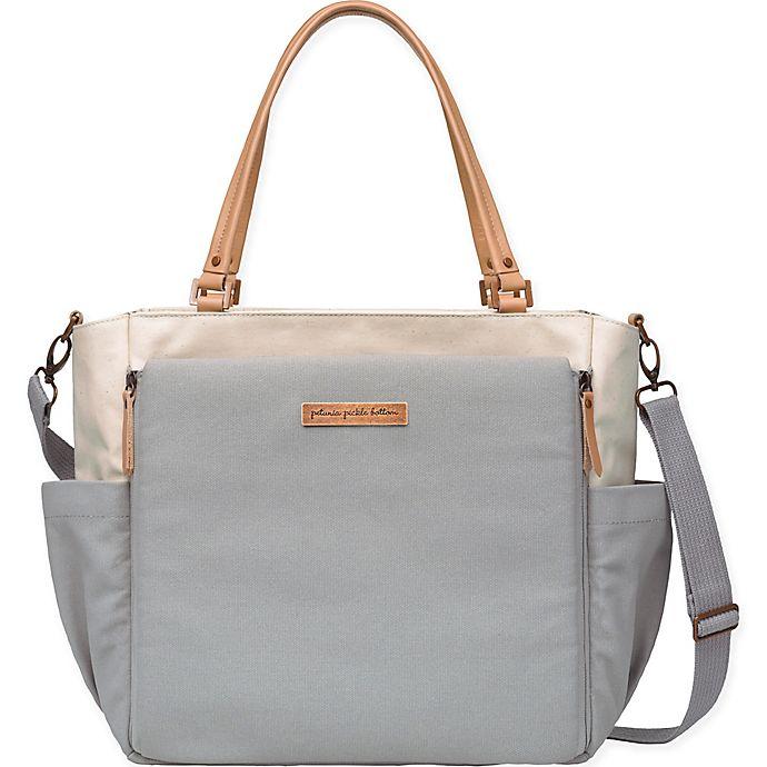 Alternate image 1 for Petunia Pickle Bottom® City Carryall Diaper Bag in Birch/Stone