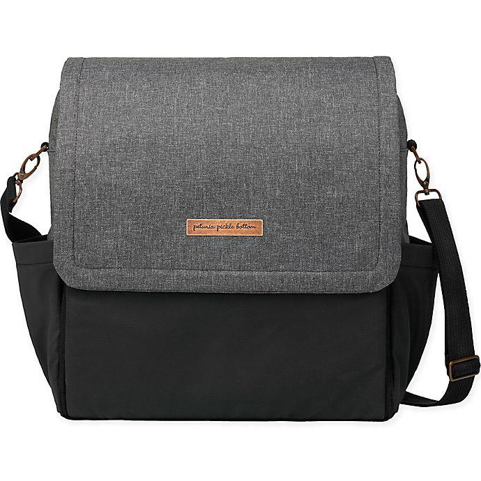 Alternate image 1 for Petunia Pickle Bottom® Boxy Backpack Diaper Bag in Graphite/Black