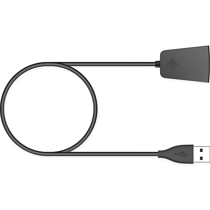 Fitbit® Charge 2 Charging Cable in Black | Bed Bath & Beyond
