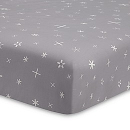 Babyletto Galaxy Galactic Stars Fitted Crib Sheet in Grey
