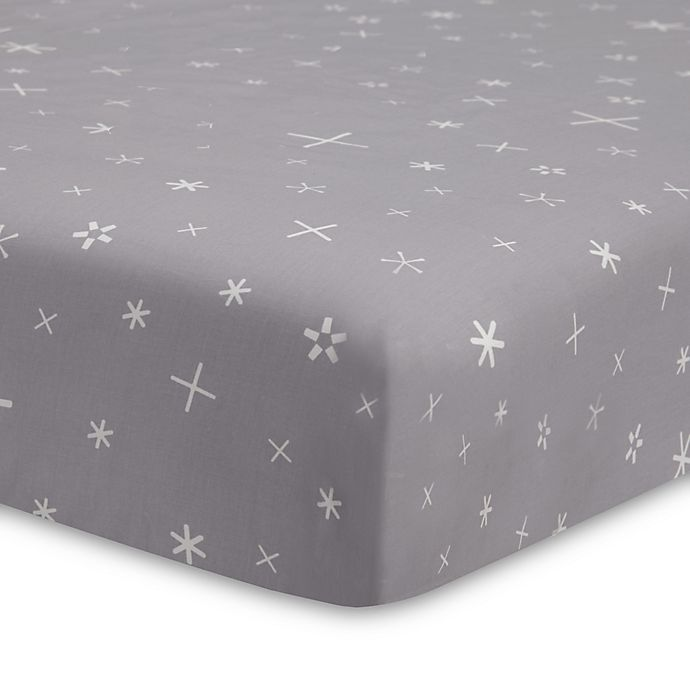 Alternate image 1 for Babyletto Galaxy Galactic Stars Fitted Crib Sheet in Grey