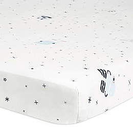 Babyletto Galaxy Floating Robots Mini Crib Sheet