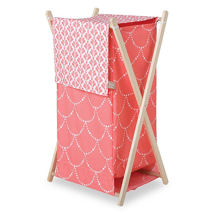 Alternate image 1 for Trend Lab® Shell Hamper/Laundry Basket in Coral