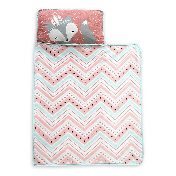 Alternate image 1 for Lambs & Ivy® Little Spirit Nap Mat in Coral/Teal