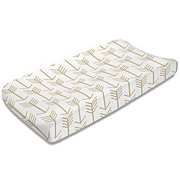 Liz and Roo Arrow Changing Pad Cover in Tan