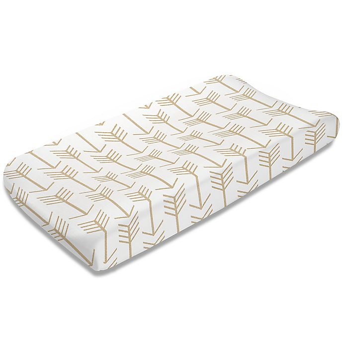 Alternate image 1 for Liz and Roo Arrow Changing Pad Cover in Tan