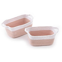 Levtex Baby® Fiori 2-Piece Storage Baskets Set in Pink/Gold