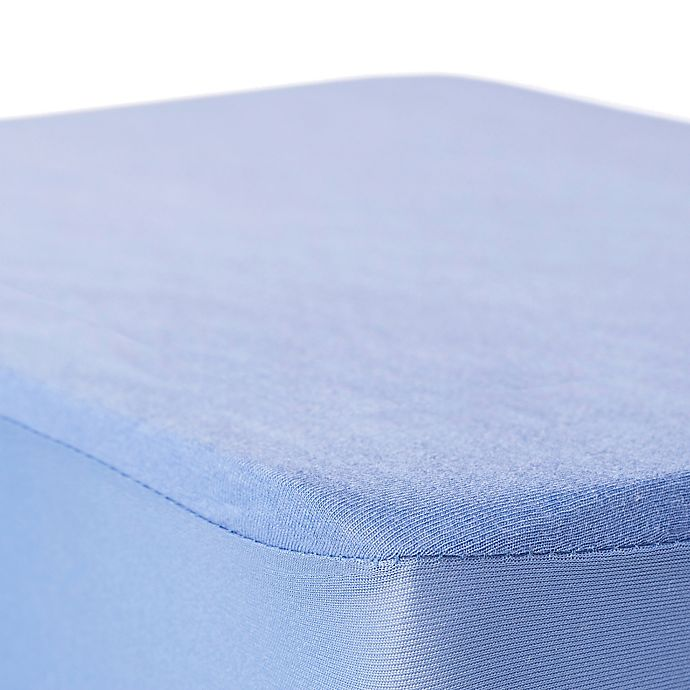 Alternate image 1 for BSensible Natural Breathable Top Waterproof Fitted Crib Sheet Protector in Lavender