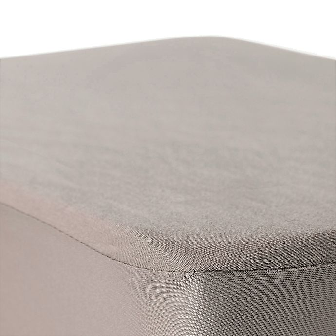 Alternate image 1 for BSensible Natural Breathable Top Waterproof Fitted Crib Sheet Protector in Beige