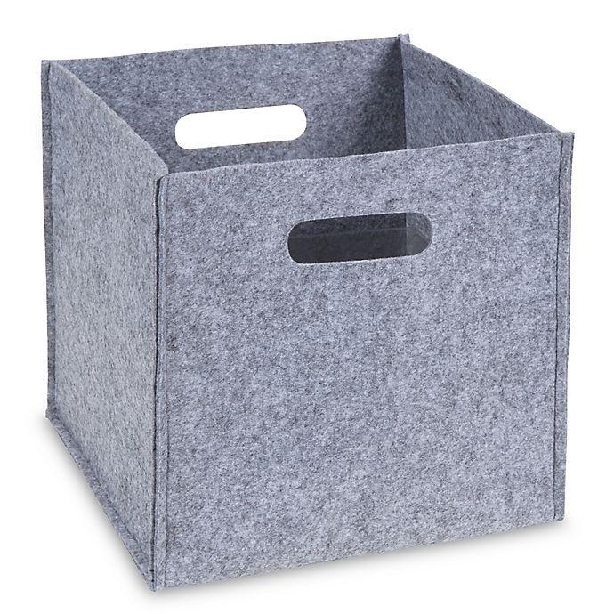 Alternate image 1 for Sammy &  Lou Felt Storage Cube in Grey