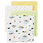 carter's® 4-Pack Camper Stars Receiving Blankets in Yellow/Green