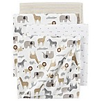 carter's® 4-Pack Safari Print Receiving Blankets in Brown/Grey