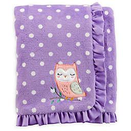 carter's® Polka Dot Plush Blanket in Purple/White