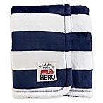 carter's® Stripes Plush Blanket in Navy/White
