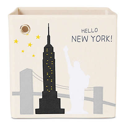 "kaikai & ash ""Hello New York!"" Kid's Canvas Storage Bin"