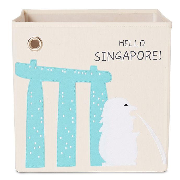 Alternate image 1 for kaikai & ash Singapore Kid's Canvas Storage Bin
