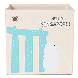 kaikai & ash Singapore Kid's Canvas Storage Bin