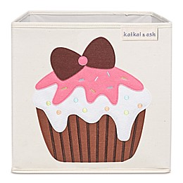kaikai & ash Cupcake Kid's Canvas Storage Bin