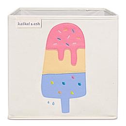 kaikai & ash Ice Cream Cone Kid's Canvas Storage Bin