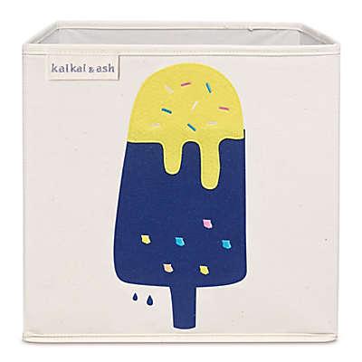 kaikai & ash Popsicle Kid's Canvas Storage Bin