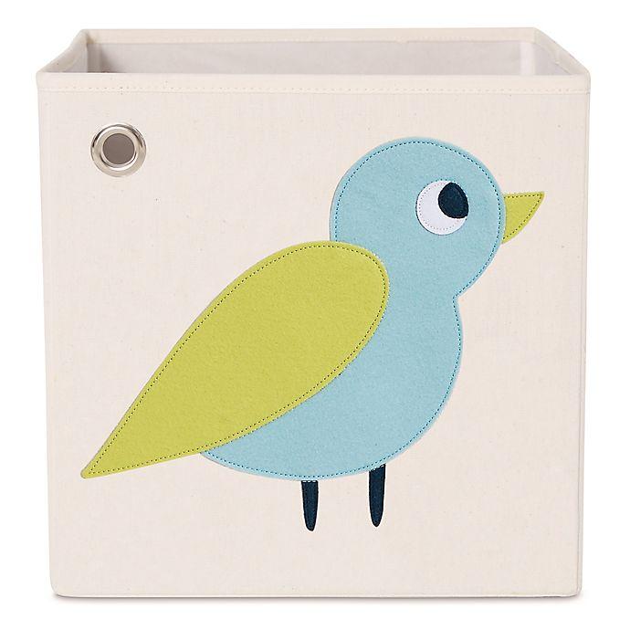 Alternate image 1 for kaikai & ash Bird Kid's Canvas Storage Bin