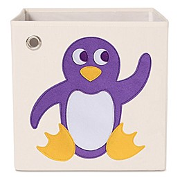 kaikai & ash Penguin Kid's Canvas Storage Bin