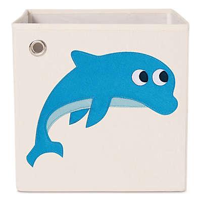 kaikai & ash Dolphin Kid's Canvas Storage Bin