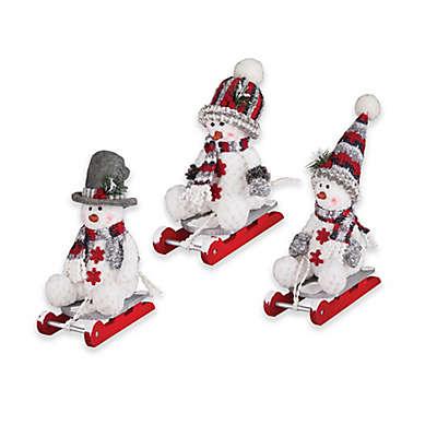 C&F Enterprises, Inc. 3-Piece Snowman on Sled Shelf Set