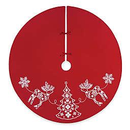 C&F Enterprises Nordic Holiday Tree Skirt in Red/White