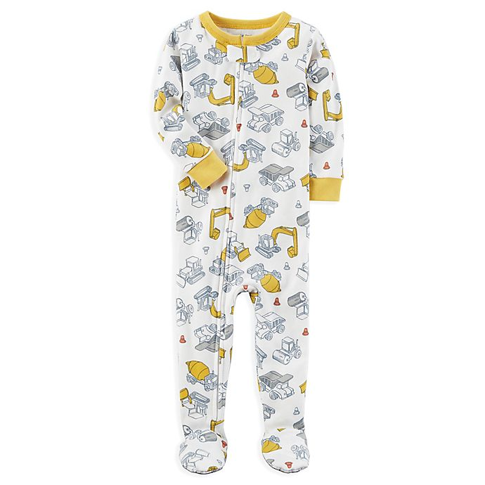 e635cff20 carter s® Construction Trucks Snug-Fit Pajamas in Ivory
